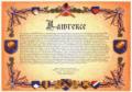 Surname in Heraldic Scroll